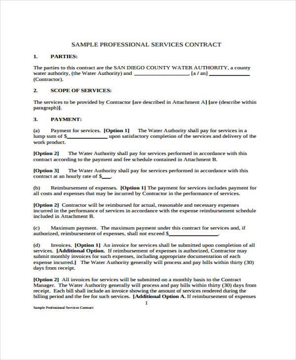 39 Sample Contract Templates | Free & Premium Templates