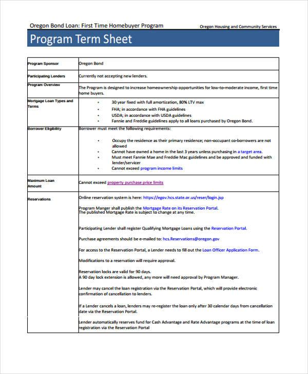 program term