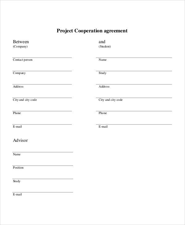 9 Cooperation Agreement Templates Free Sample Example Format