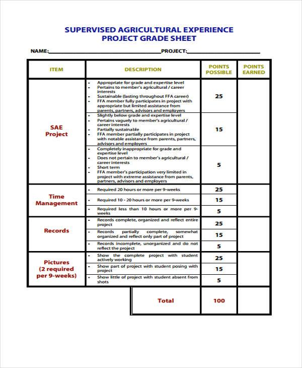 project grade