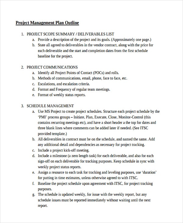 project management outline1