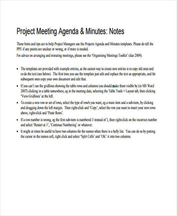 project meeting3