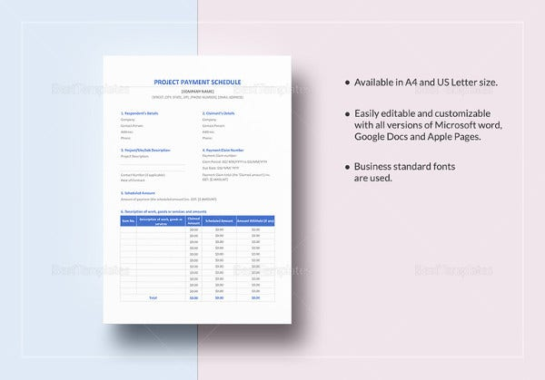 project-payment-schedule-excel-template