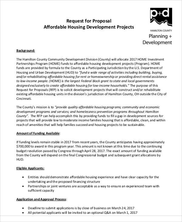 9 development project proposal templates free sample example project request for proposal hamiltoncountyohio details file format accmission Gallery