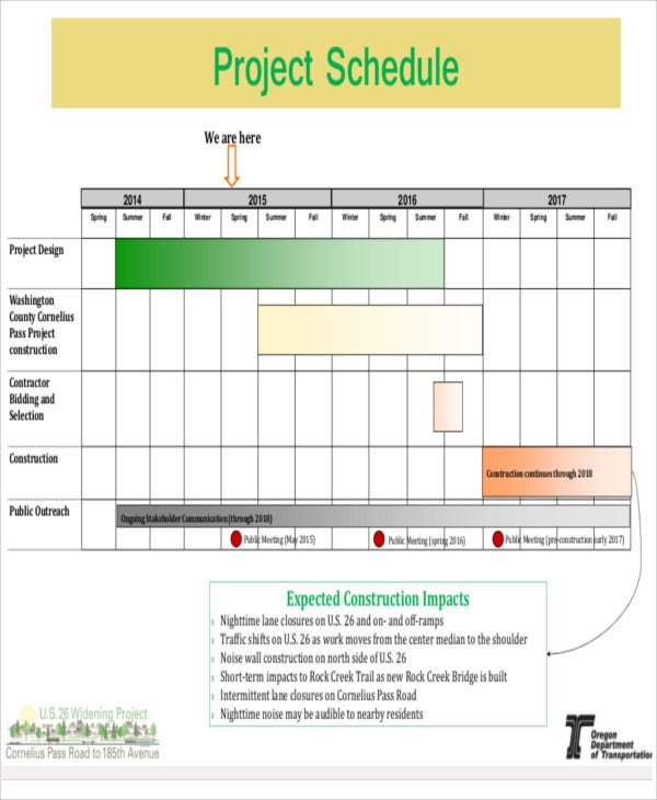 10+ Construction Schedule Templates - Free Sample, Example Format Download