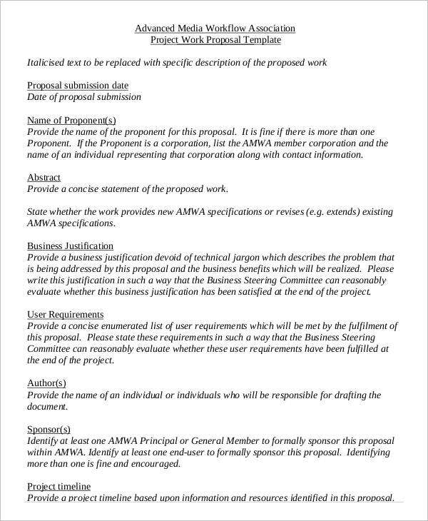 Project Work Proposal