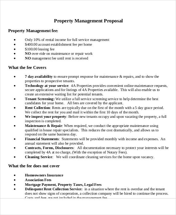 4 Management Proposal Templates Free Premium Templates