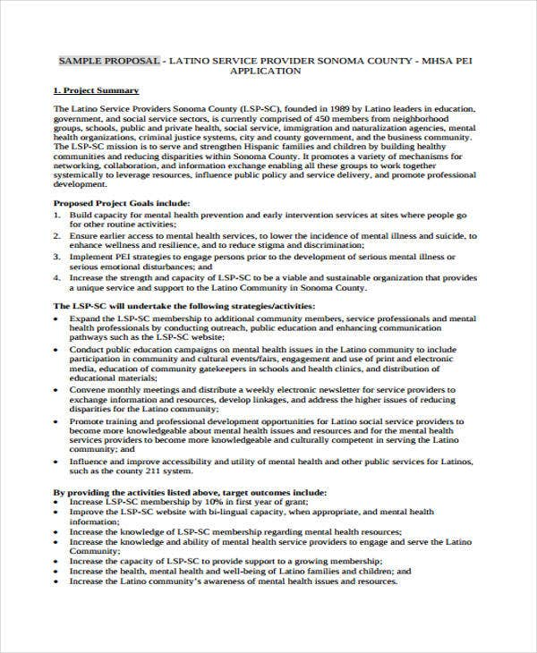 provider proposal