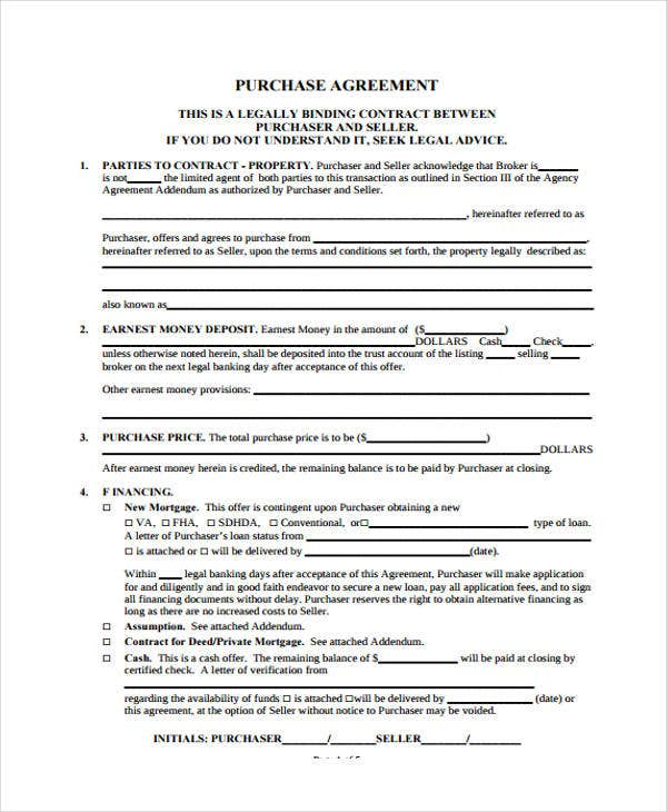 purchase contract4