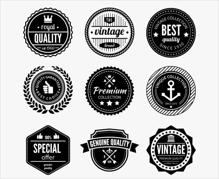 quality-badges-free-vector