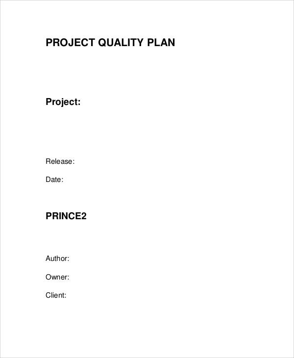 quality plan for project