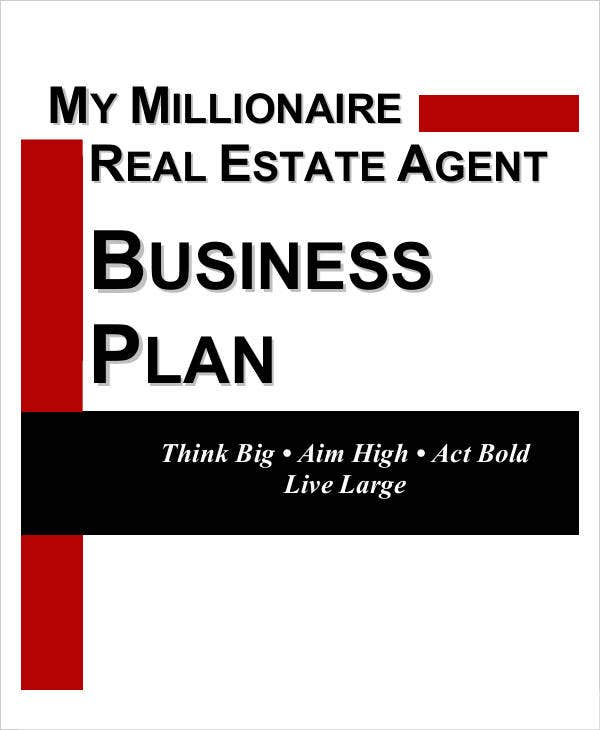 Free Business Plan Templates Free Premium Templates - Real estate agent business plan template