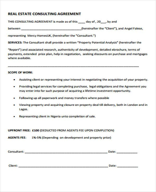 real estate agreement1