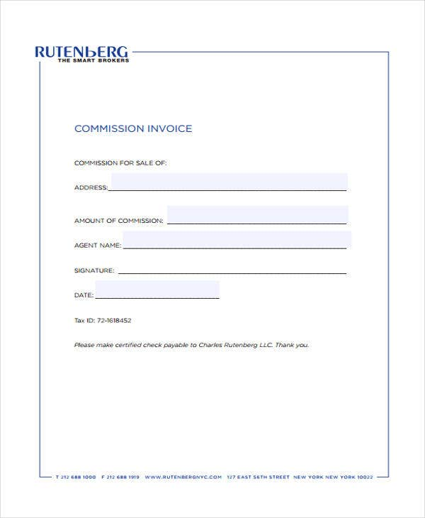 real estate commission invoice template  6  Real Estate Invoice Templates - Free Sample, Example Format ...