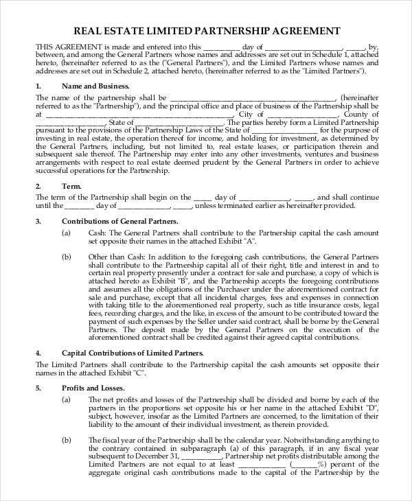 Partnership Contract Templates  Free Sample Example Format