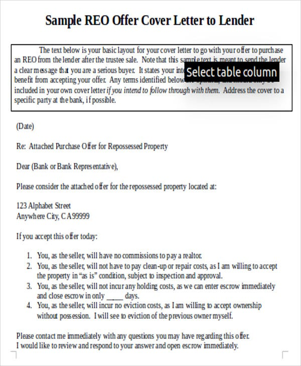 7 Real Estate Offer Letter Free Sample Example Format Download