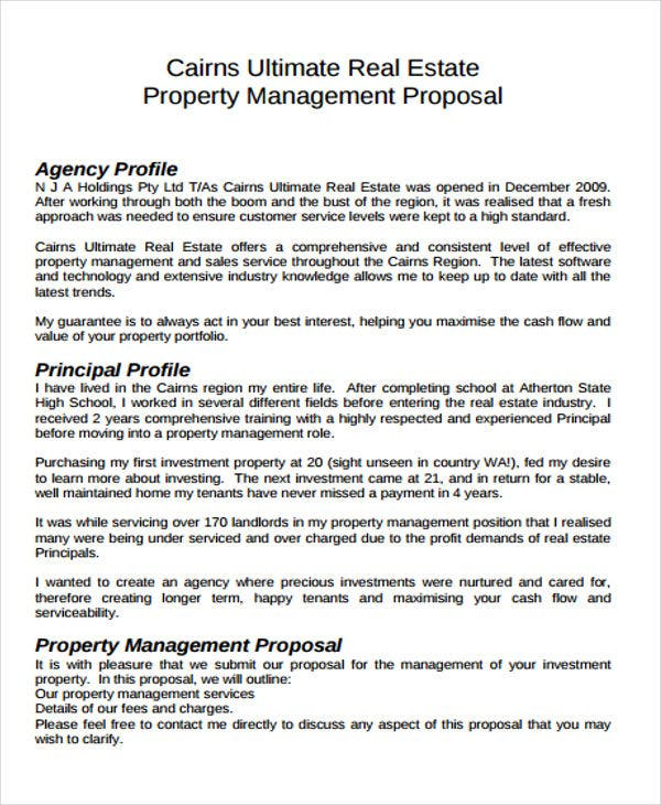 Property Management Proposal Example
