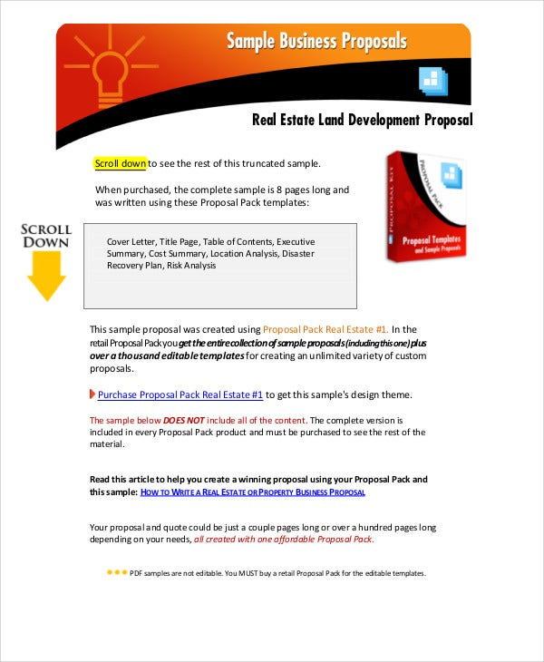 Real Estate Proposal Template 5 Com Web Design Proposal Sample – Sample Proposal