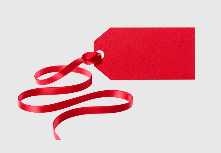 red tag ribbon