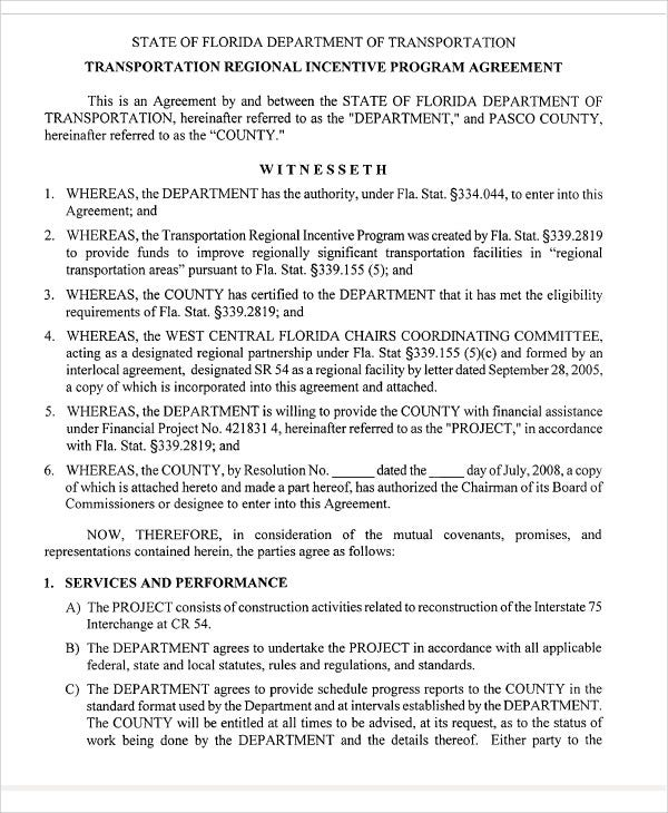 9+ Incentive Agreement Templates - Free Sample, Example Format ...