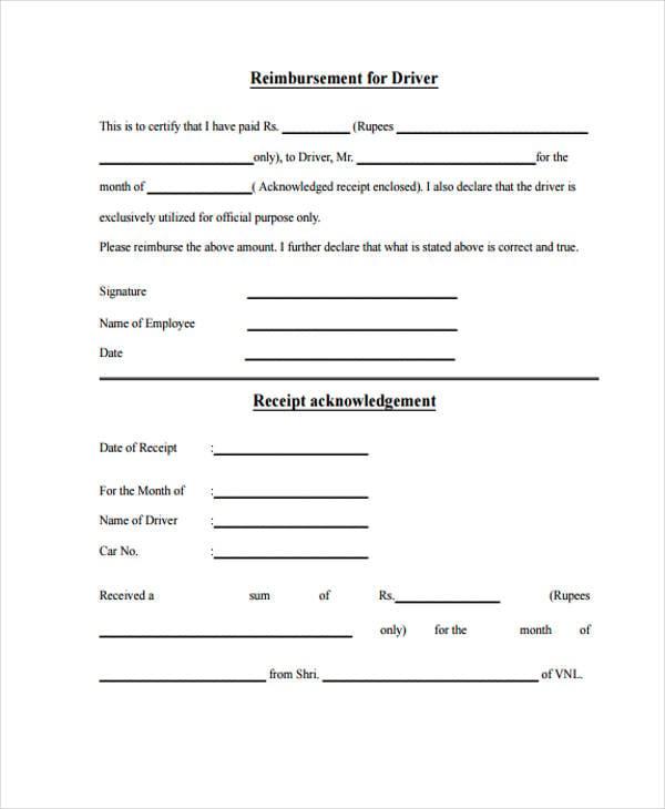 Missing Receipt Form Template Datariouruguay