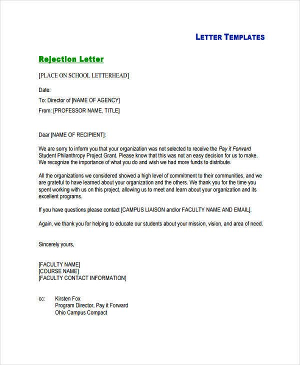 rejection letter in pdf2