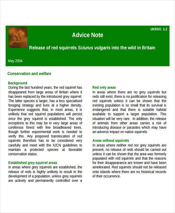 release advice