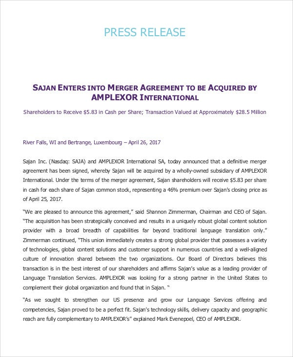 release agreement