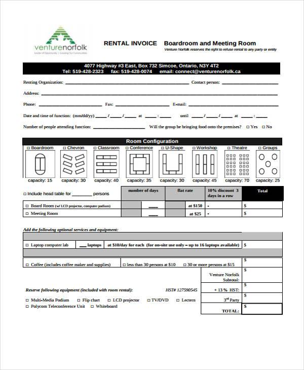 rent invoice