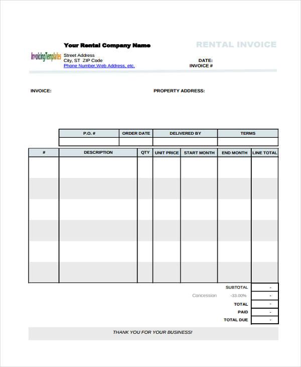 rent invoice1