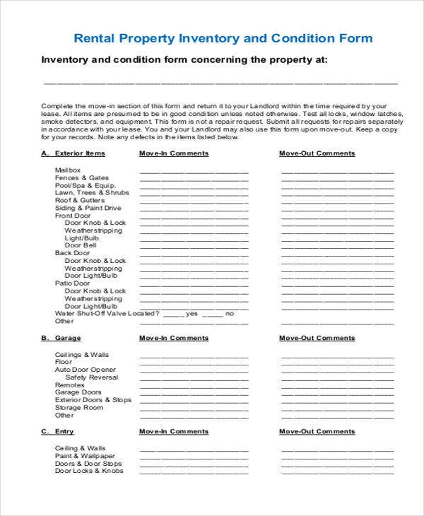 inventory for rental property template - 32 inventory templates in pdf free premium templates