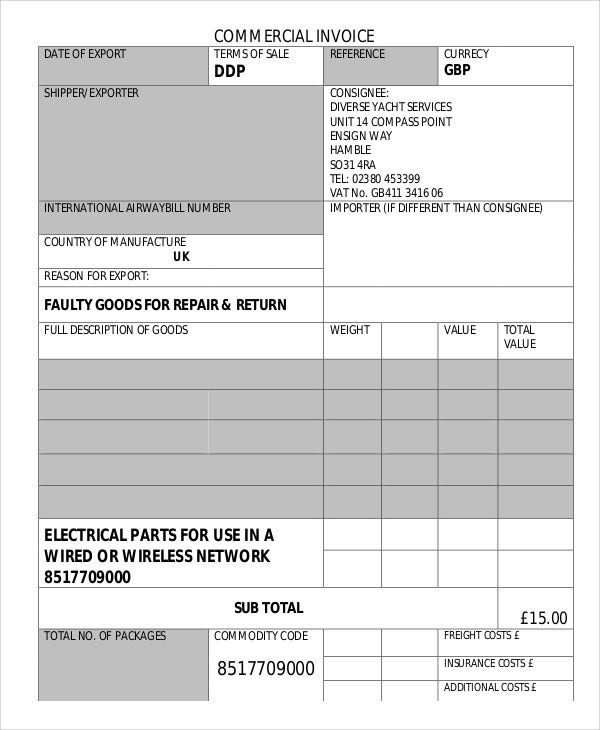 Repair Invoice  Electrical Invoice Template