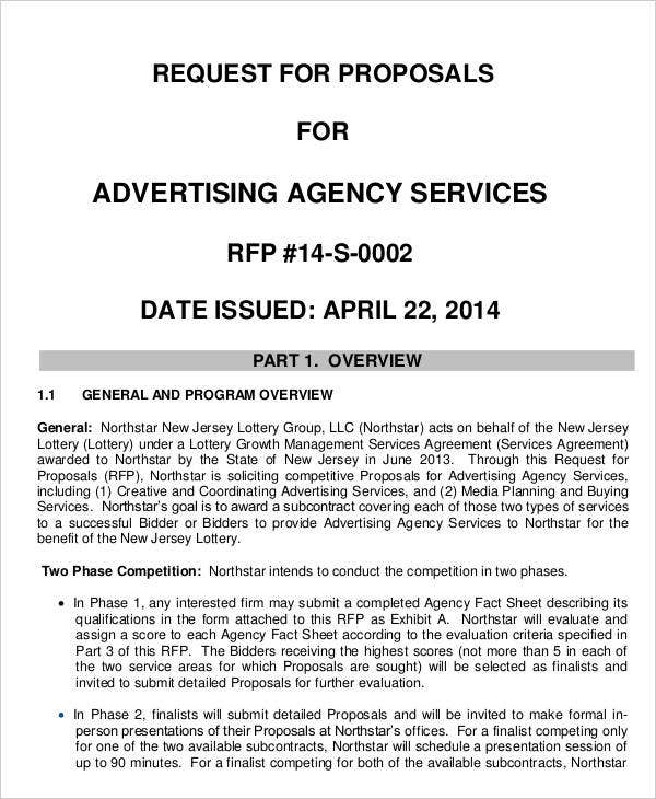 Request for Advertising Agency