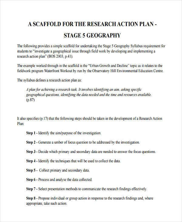 Research Plan Templates   Free Word Pdf Format Download  Free