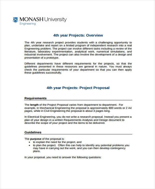 12+ Engineering Project Proposal Templates