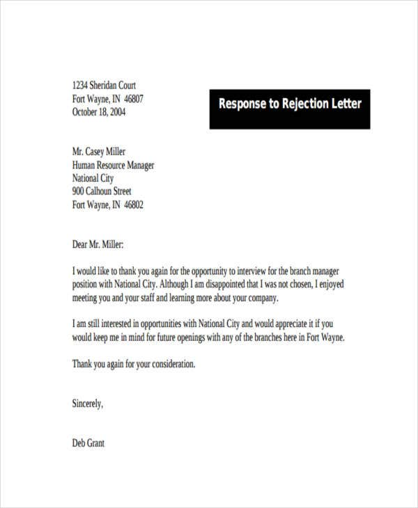 response to rejection letter3