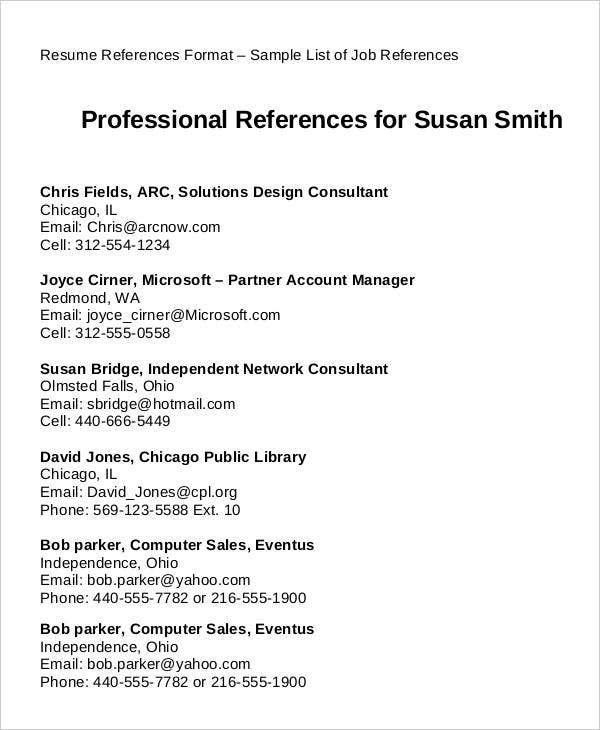 resume examples with references resume examples and free resume - References In Resume Examples