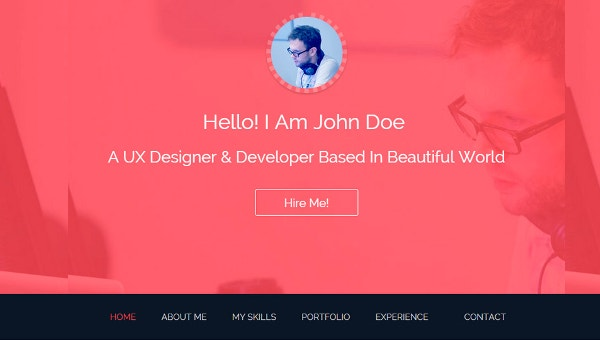 12 Bootstrap Resume Templates