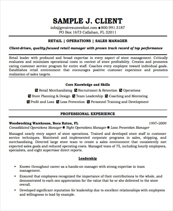 Director Of Operations Resumes - 8+ Free Word, Pdf Format Download
