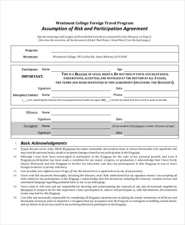 risk participation agreement