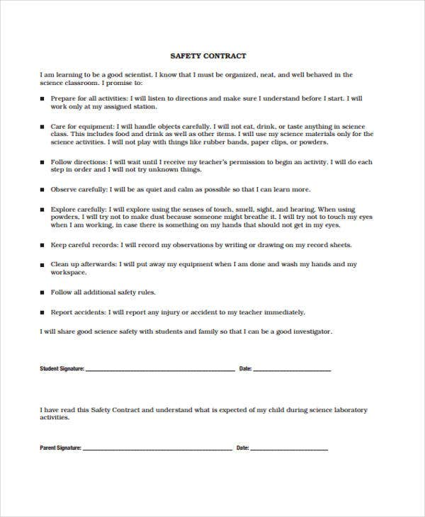 safety contract in pdf