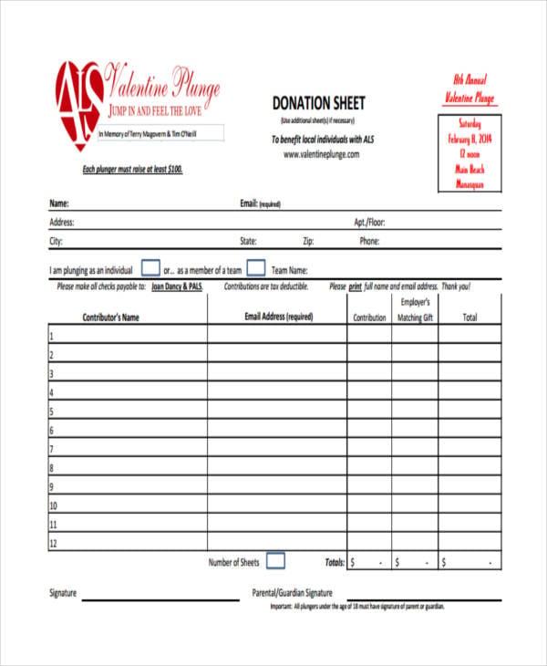 sample donation