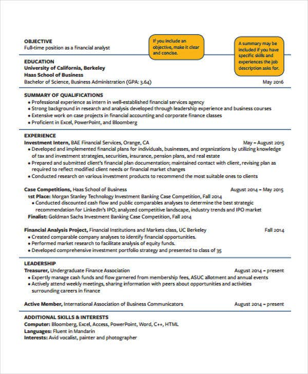 free education resume template