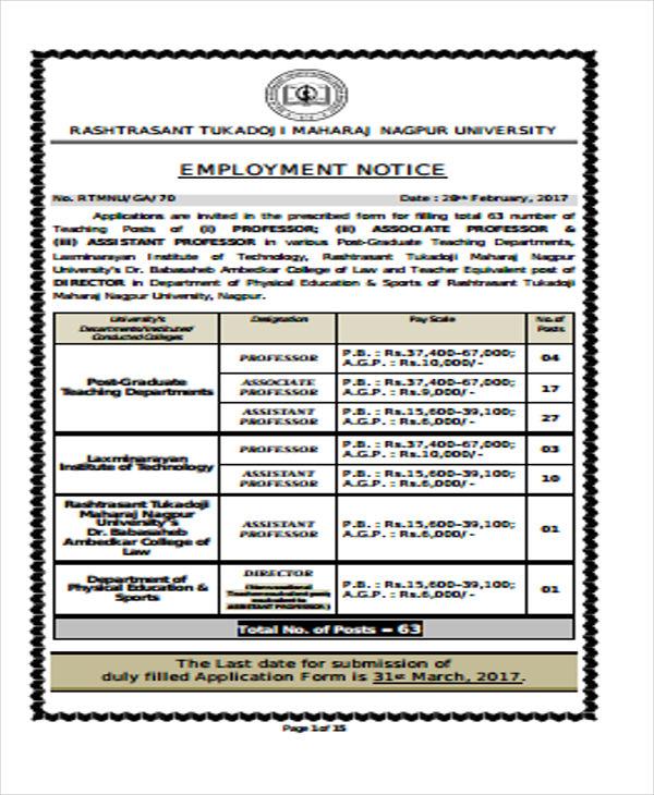 sample employment2