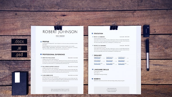 9+ Executive Curriculum Vitae Templates - PDF,DOC | Free & Premium