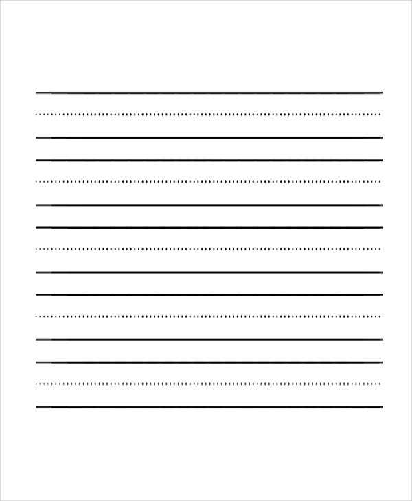 sample lined paper