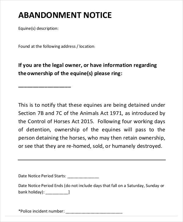 Law Regarding Abandoned Property