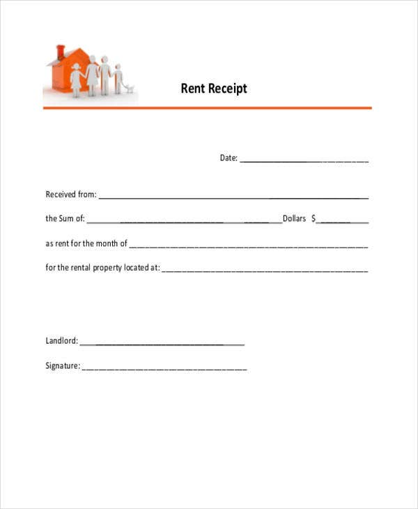sample rent receipt