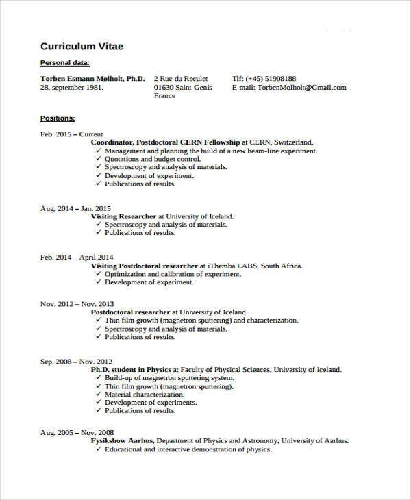 7+ Summer Job Resume Templates