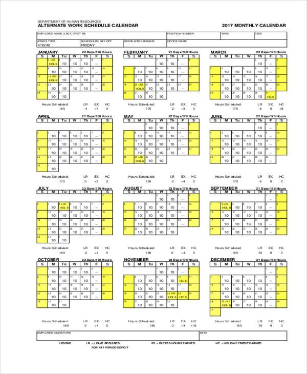 schedule calendar1